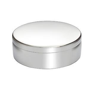 8Cm Plain Round Pewter Trinket Box