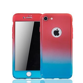 Omena iPhone 8 soittaa puhelimella asia suojata asia ml;mellinen kansi akvaario suojelus lasi punainen / alakuloinen