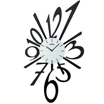 Wall clock quartz watch delicate quartz wall clock cut metal painted black