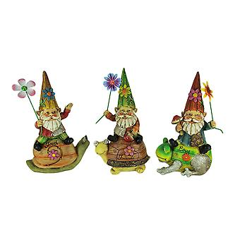 Gnomes On Garden Friends Wood Look Garden Statue Set of 3
