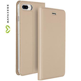 Mayaxess Skin Series Flip case, standing case for iPhone 7 Plus / 8 Plus - Gold