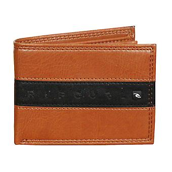 Rip Curl Wallet With CC, Note and Coin Sections ~ Word Boss Slim brown