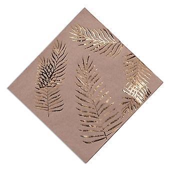 Kraft ruskea lautasliinat Gold paljastunut lehtiä x 16 trooppinen Chic