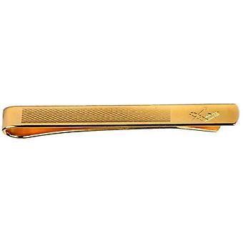 David Van Hagen Masonic Engraved Tie Slide - Gold