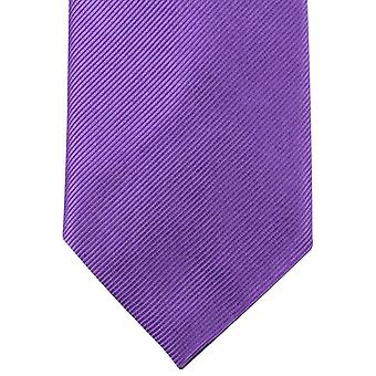 Knightsbridge Neckwear Plain Diagonal Ribbed Tie - Purple