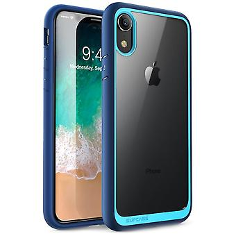 iPhone XR Case, [Unicorn Beetle Style Series] Premium Hybrid Protective Clear Case 2018 Release (Blue)
