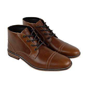 Kenneth Cole Reação Kirve Bota A Mens Brown Leather Chukkas Boots