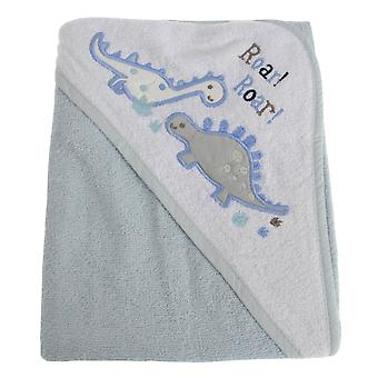 寄り添う赤ちゃん赤ちゃん男の子恐竜フード付きタオル