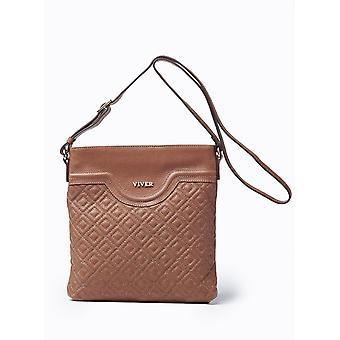 Viver Leather Crossbody Bag Alma Brown