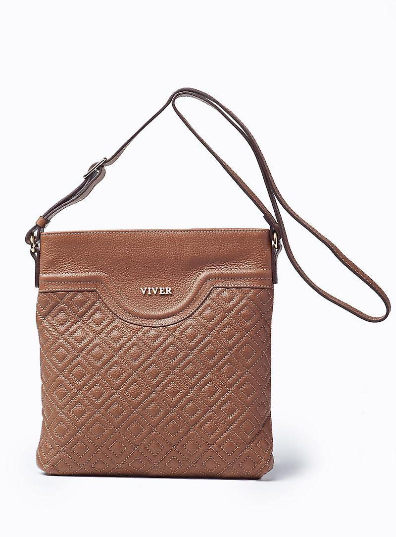 Viver Alma Brown Leather Crossbody Bag