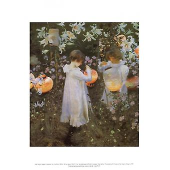 Carnation Lily Lily Rose Poster Print by John Singer Sargent (11 x 14)
