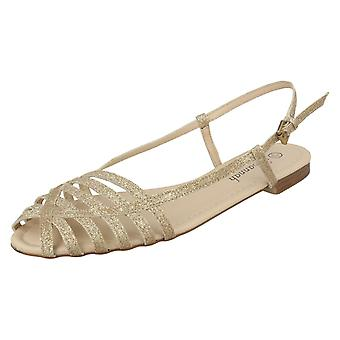 Savannah flache Glitter Sandalen Damen