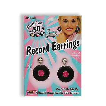 Bnov Record Earrings, 1950S 1970S 1980S