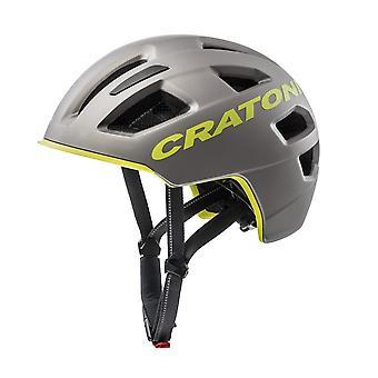 CRATONI C-pure bicycle helmet / / matt grey/lime