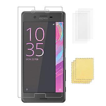 3-PACK Sony Xperia X Skärmskydd Transparent + Putsduk