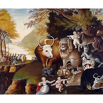 ממלכת השלום, אדוארד היקס, 44.5 x 59.3 ס מ