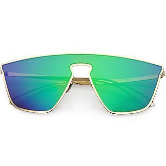 Futuristinen lentäjä kilpi aurinkolasit värillisiä peili linssi 58mm