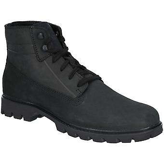 Caterpillar Mens Basis Durable Lace Up Leather Ankle Boots