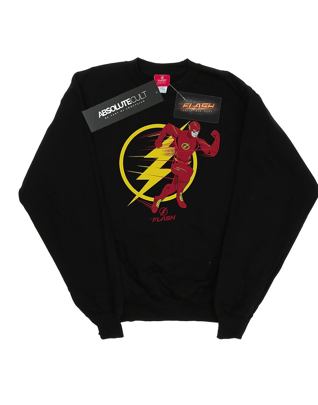 DC Comics Men's The Flash Running Emblem Sweatshirt