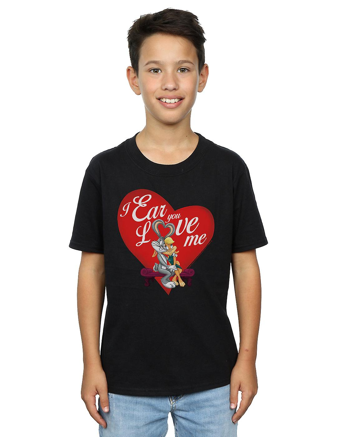 Looney Tunes Boys Bugs Bunny And Lola Valentine's Day Love Me T-Shirt
