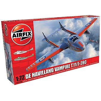 Airfix A02058A deHavilland Vampire T.11:J-28C 1:72 Model Kit