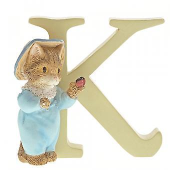 Beatrix Potter Alphabet Letter K Tom Kitten Figurine