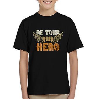 Essere il tuo eroe Rock su t shirt bambino