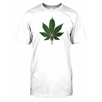Marihuanan lehtiä - Funny Miesten T-paita