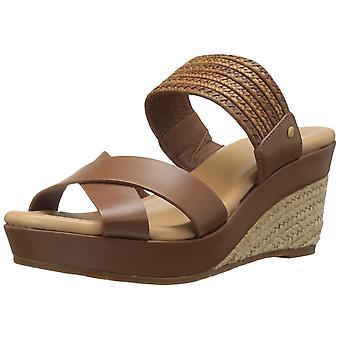 UGG Australia Womens Adriana Leather Open Toe Casual Espadrille Sandals
