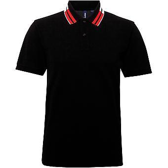 Buiten kijken heren twee kleur getipt katoenen polo shirt