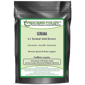 Guaraná-4:1 extrato de pó de semente natural (Paullinia cupana)
