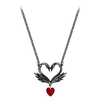Alchemy Gothic The Black Swan Romance Pewter Pendant
