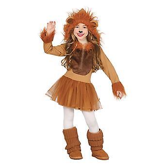 Meisjes Leeuwin Cub Fancy Dress kostuum