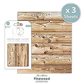 Craft Consortium Pinewood Decoupage Papers