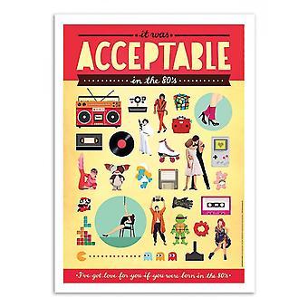 Kunst-poster-aanvaardbaar-Nour Tohme 50 x 70 cm