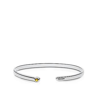 University Of Southern California Engraved Sterling Silver Yellow Sapphire Cuff Bracelet