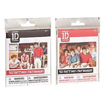 One Direction 1d 50 Tattoos Bundle Black & Red 2 Packs Supplied