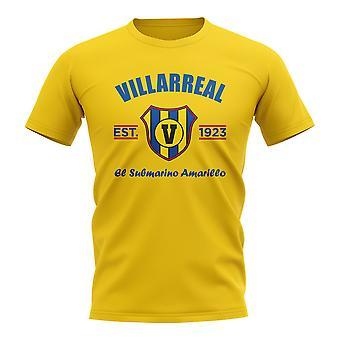 Villarreal opgericht voetbal T-shirt (geel)