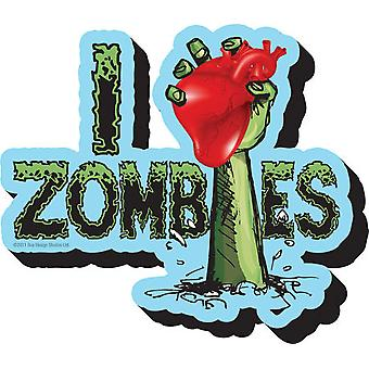 Magnet - Zombies - I Heart Zombies Licensed Gifts Toys 95116