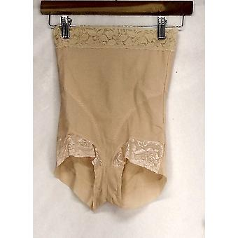 Slim 'N Lift Lace Trim Brief Style Beige Shaper