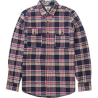 Vissla bluff plaid shirt navy