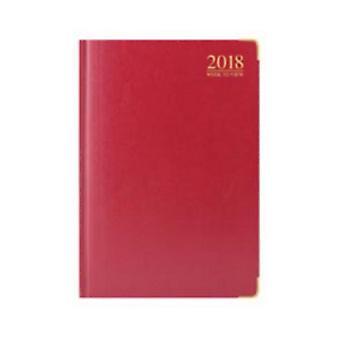 Tallon 2018 A4 WTV Red Padded Gilt Edged Diary