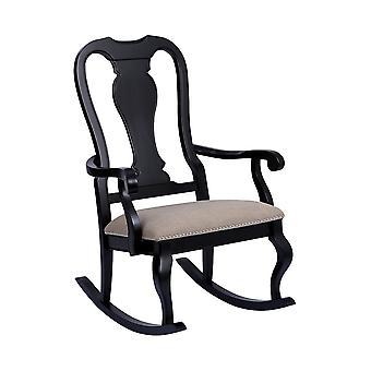 Natural linen tress black with natural linen rocking chair stein world
