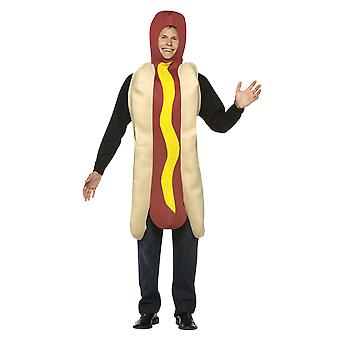 Adult Giant Hot Dog Costume Fast Food Novelty Funny Fancy Dress