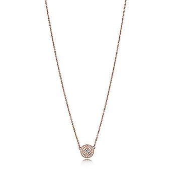Pandora Necklace with Gold-plated Woman Pendant - 380523CZ-45