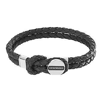 Emporio Armani Leather bracelet/Stainless Steel