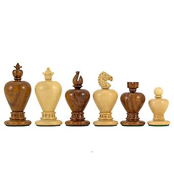 Apple Series Golden Rosewood Carved Chessmen