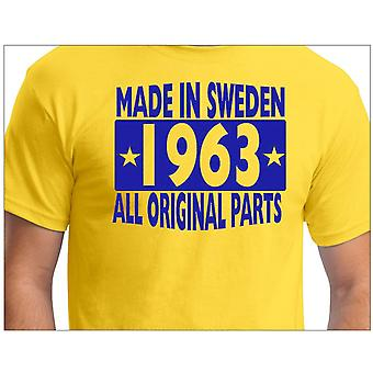 Camiseta amarela feita na Suécia 1963 Todas as peças originais