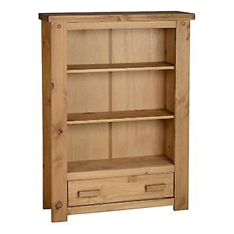 Tortilla 1 Drawer Bookcase Distressed Waxed Pine
