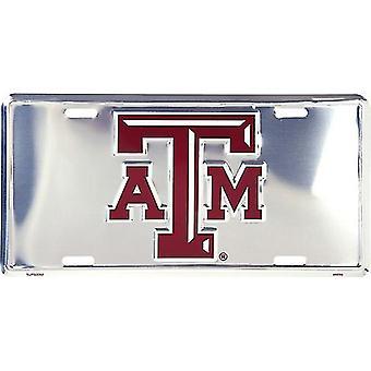 Texas A&M Aggies NCAA Silver Mirror License Plate